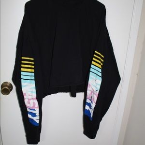 Black crop sweatshirt